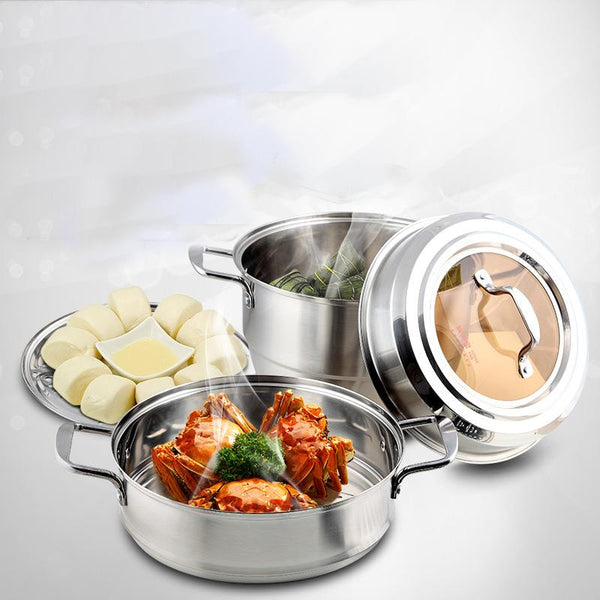 Household Induction Cooking stainless steel three layers - Here2U