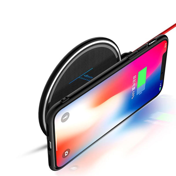 Iphonex Wireless charger 8 - 8plus Samsung S8 QI  8P eight X - Here2U