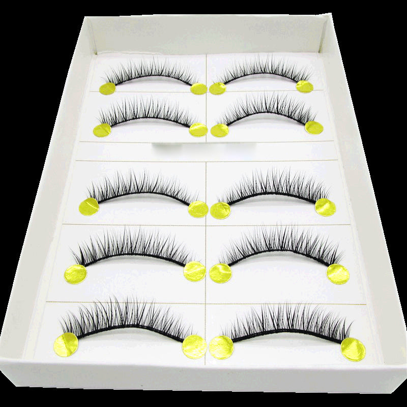 Natural thick short section upper eyelashes