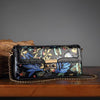 Leather hundred oblique cross Baotou layer hand-painted shoulder bag - Here2U