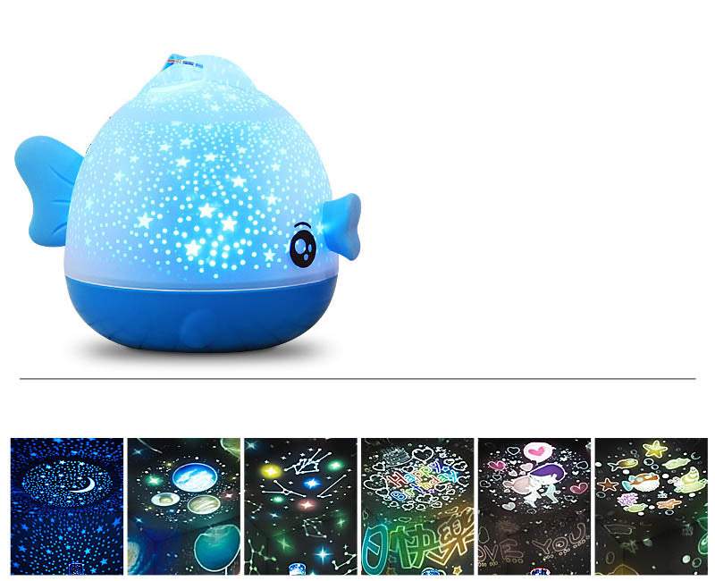 Creative dream romantic starry moon rotation projection night light