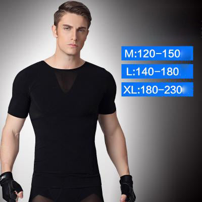 Men's corset short-sleeved abdomen corset vest belt