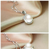 Simple wild pendants 925 silver jewelry  pearl necklace clavicle chain - Here2U
