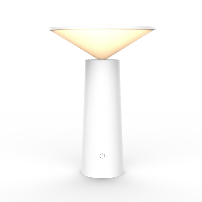 Simple modern energy-saving plug-in Dimmable rechargeable desk lamp