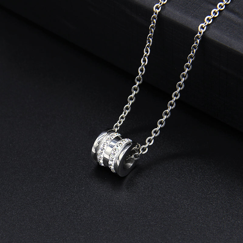 Men's Cross Titanium Steel Pendant Necklace