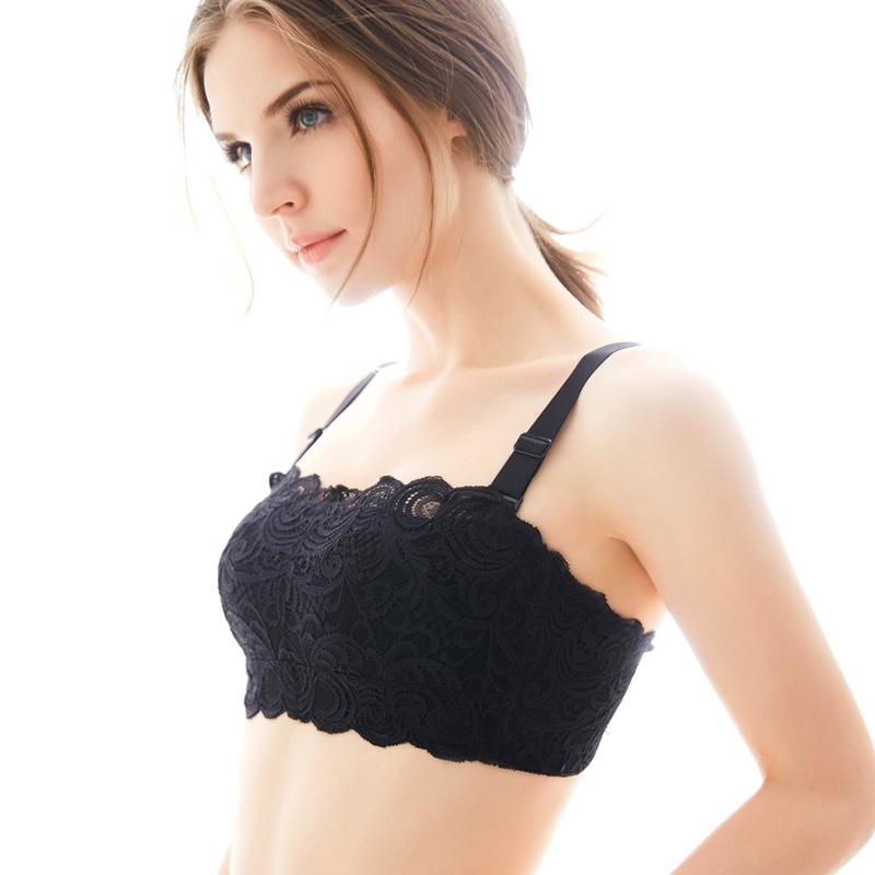 Tube top anti-lighting female wrapped no steel ring thin section bra