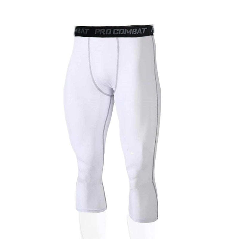 Tight cropped trousers stretch Pro sports pants