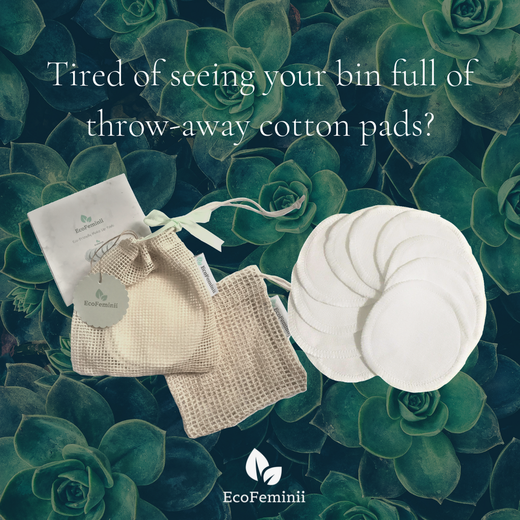 Tired of seeing your bin full of throw-away cotton pads?