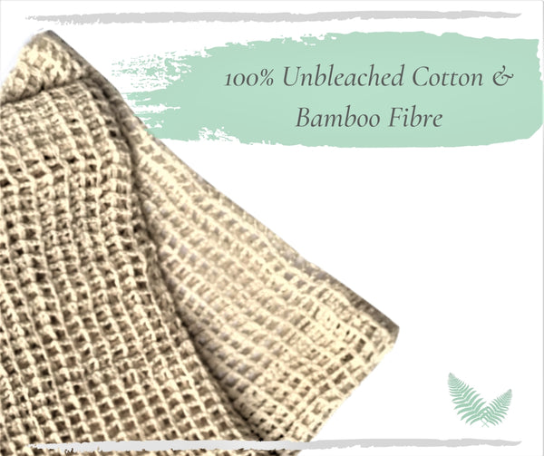 100% unbleached cotton and bamboo fibres mesh bags