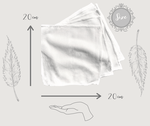 20cm x 20cm reusable wet wipes with pouch