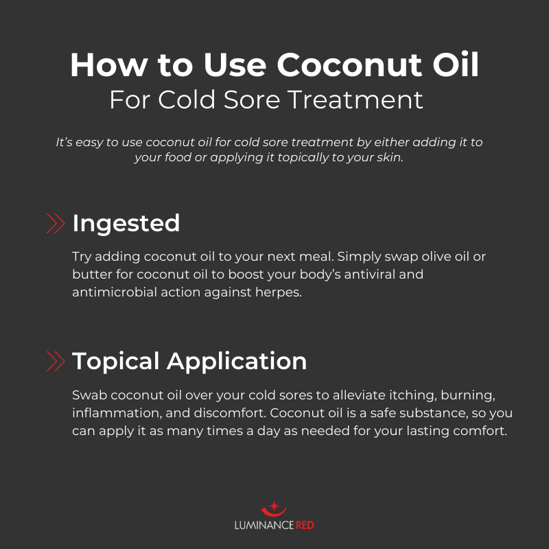 coconut oil and cold sores
