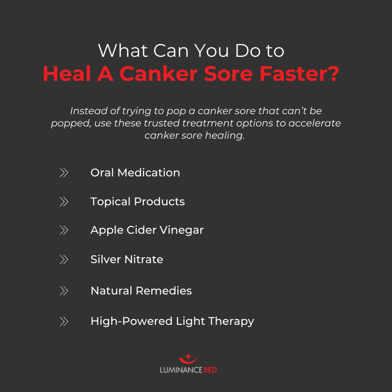 can you pop a canker sore