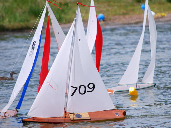 RC Sailboat Racing: Remote Control Sailboats with Racing Upgrades at a Model Sailboat Race
