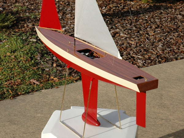RC Sailboat Accessories: Veneer Deck Kit for T37 Wooden Model Boat Kit Provides a Beautiful Classic Model Boat Finish