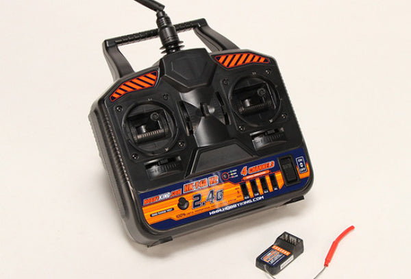 RC Gear: Transmitter and Receiver - Replacement HobbyKing Digital 2.4 gHz 4 Channel Radio