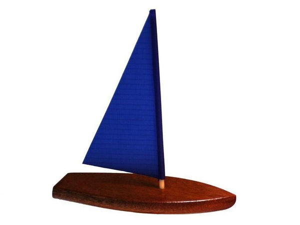 Toy Boat: Tippecanoe Boats T5 Wooden Toy Sailboat with Blue Sail - Great Pool Toy