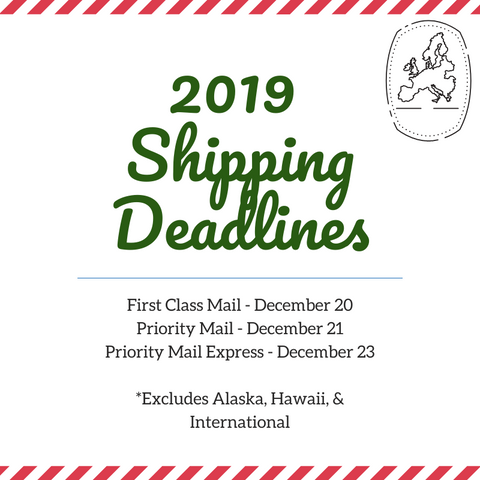 2019 USPS Shipping Deadlines