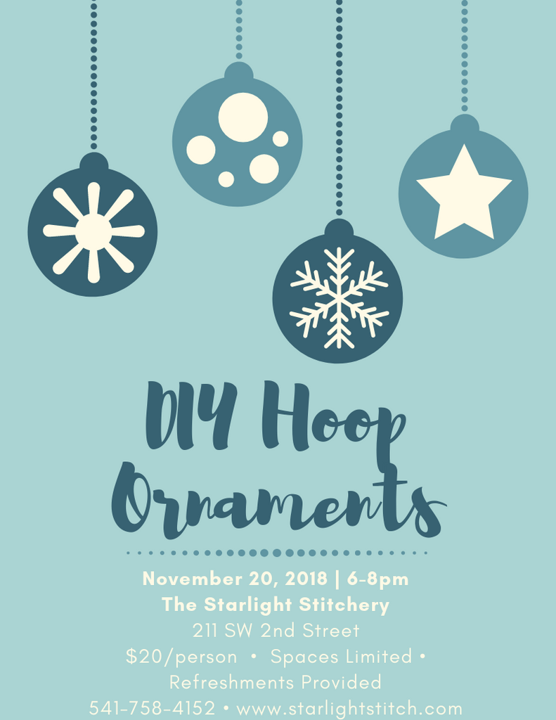 November Event: DIY Hoop Ornaments
