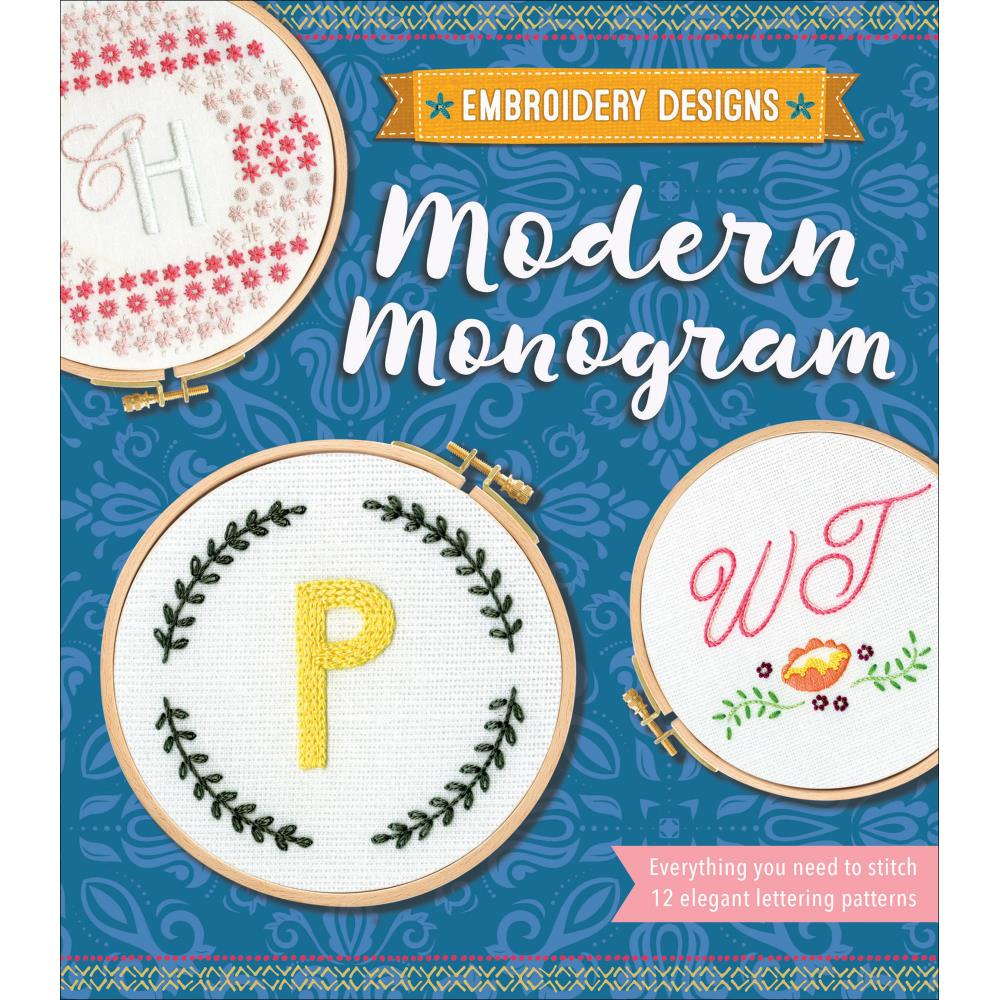 Modern Monogram Embroidery Kit