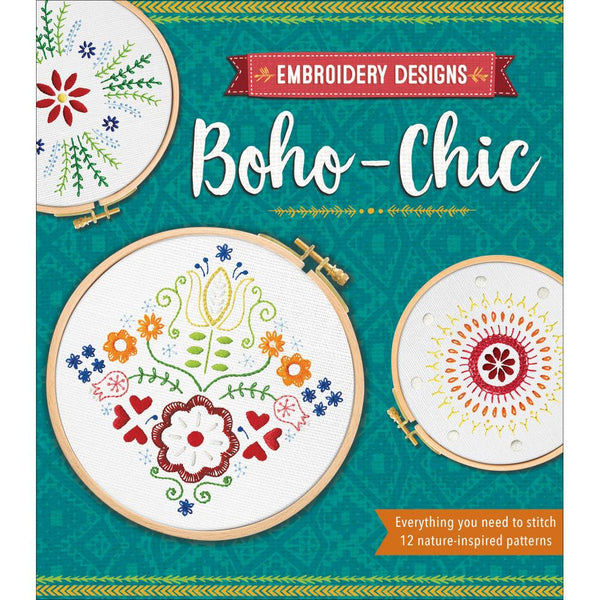 Boho Chic Embroidery Designs Kit