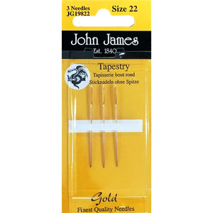 John James Gold Tapestry Needles Size 20