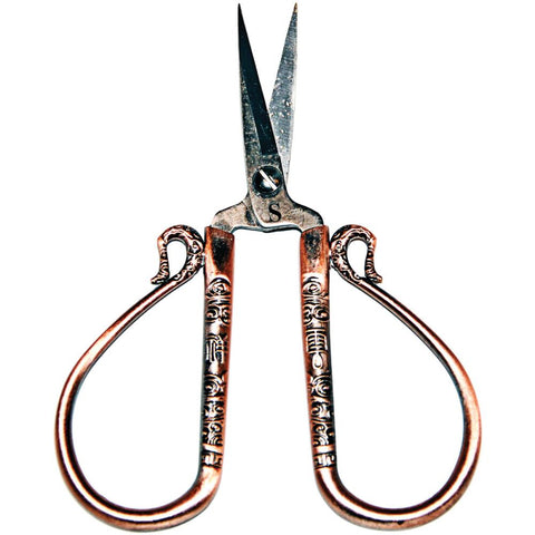 "Sullivans Heirloom Embroidery Scissors 4"" Antique Copper"