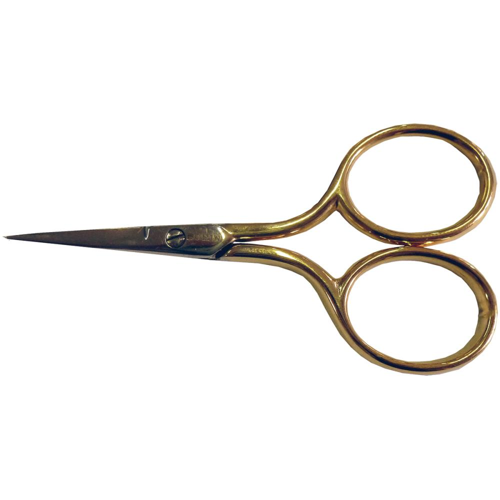 Gilt Handle Embroidery Scissors 2.875""
