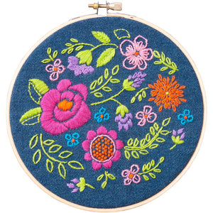 "Bucilla Stamped Embroidery Kit 6"" - Floral"