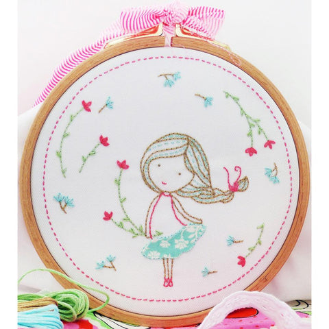"Spring Girl 6"" Embroidery Kit"