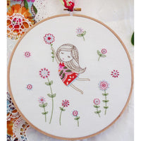 Tamar Embroidery Kit - Girl in Red Dress
