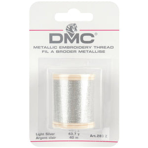Metallic Embroidery Thread 43.7yd - Light Silver
