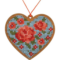 Heart Wood Ornament Cross Stitch Kit