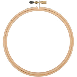 "6"" Superior Rounded Edge Wood Hoop"