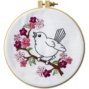 Cherry Blossom Birdy - Embroidery Kit