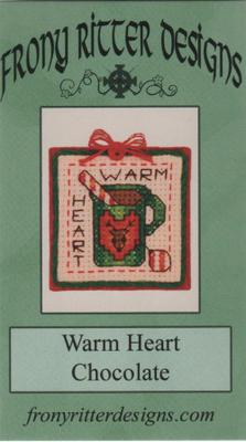 Warm Heart Chocolate Ornament - Cross Stitch Pattern