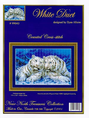 White Duet - Cross Stitch Pattern