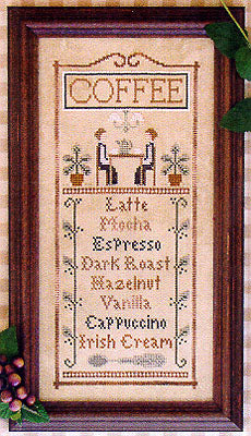 Coffee Menu - Cross Stitch Pattern