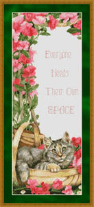 Everyone Needs Their Own Space - Cross Stitch Pattern