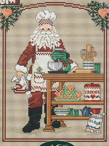 Cookie Santa - Cross Stitch Pattern