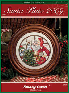 Santa Plate 2009 - Cross Stitch Pattern