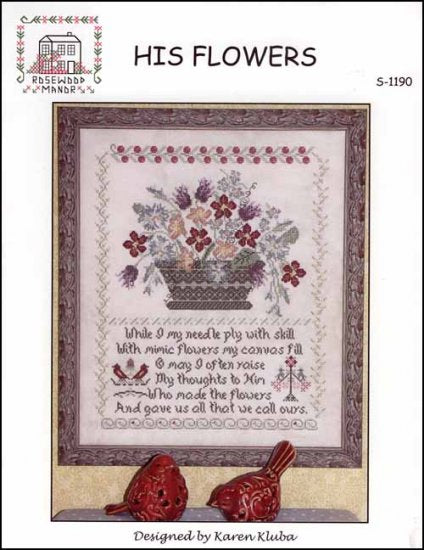 His Flowers - Cross Stitch Pattern