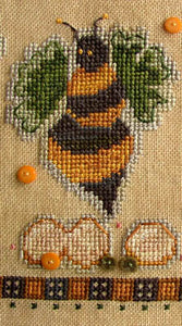 A Dozen Buzzin's #3 - March Buzzz - Cross Stitch Pattern