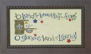 Snappers The Patriotic Branch #1 - Liberty Belle Squirrel - The Starlight Stitchery