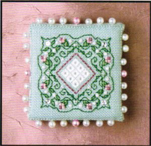 Colonial Roses Pin Keep - Cross Stitch Pattern
