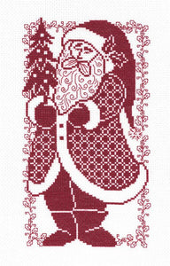 Santa Silhouette - Cross Stitch Pattern