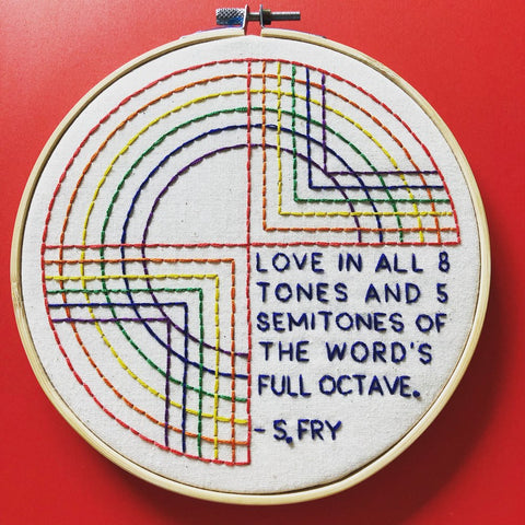 Pride 2019 Love is Love Embroidery Kit