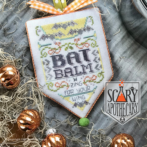 Scary Apothecary #1 - Bat Balm - Cross Stitch Pattern