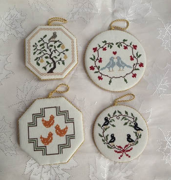 The Twelve Days of Christmas Quaker Style - Part 1 - Cross Stitch Pattern