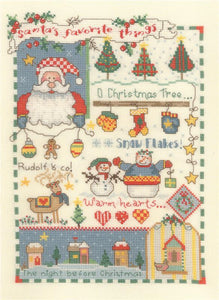 Santa's Favorite Things - Cross Stitch Pattern