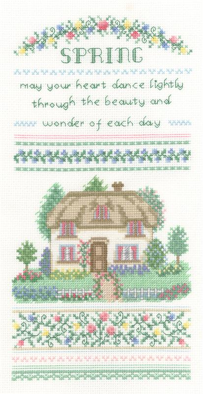 Spring Cottage - Cross Stitch Pattern